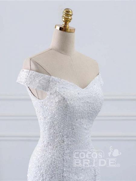 Off-the-Shoulder Mermaid Wedding Dress_5
