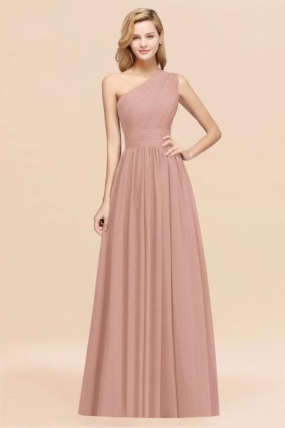 Elegant A-Line Burgundy Chiffon One-Shoulder Sleeveless Ruffles Floor-Length Bridesmaid Dresses_6