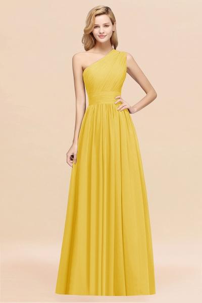 Elegant A-Line Burgundy Chiffon One-Shoulder Sleeveless Ruffles Floor-Length Bridesmaid Dresses_17