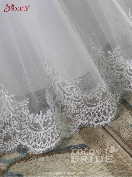 New Lace Off-The-ShouldeR Ball Gown Tulle Wedding Dresses_6