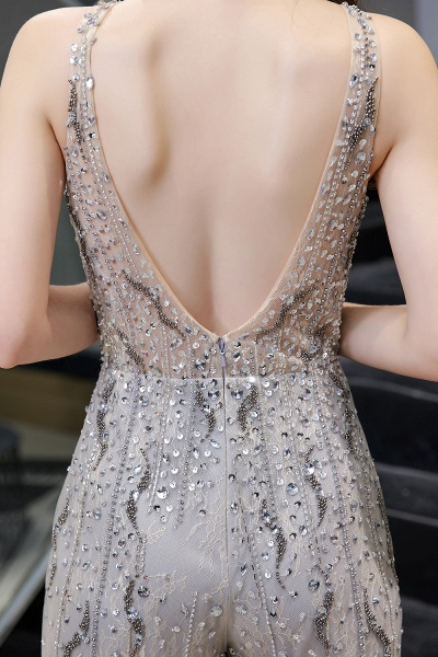Jewel Sleeveless Tulle Evening Jumpsuit with Sequins_11
