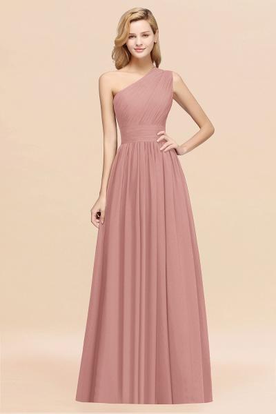 Elegant A-Line Burgundy Chiffon One-Shoulder Sleeveless Ruffles Floor-Length Bridesmaid Dresses_50