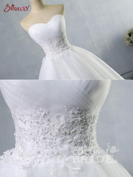 Gorgeous Sweetheart Cathedral Ball Gown Wedding Dresses_6