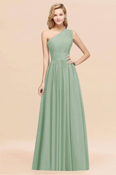 Elegant A-Line Burgundy Chiffon One-Shoulder Sleeveless Ruffles Floor-Length Bridesmaid Dresses_41