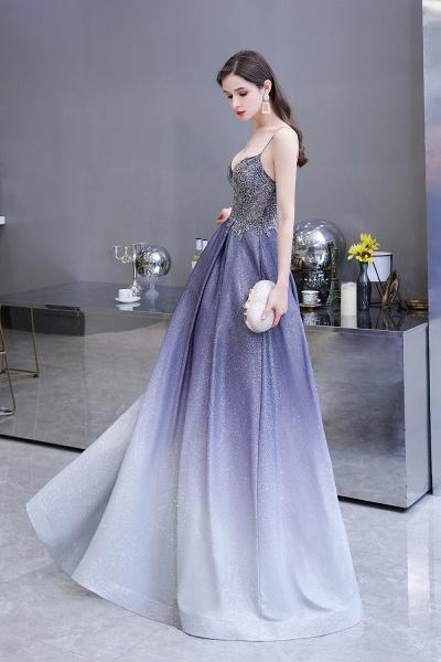 Elegant Spaghetti Straps Appliques Beads Ombre Prom Dress_16