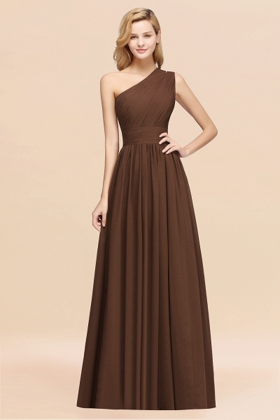 Elegant A-Line Burgundy Chiffon One-Shoulder Sleeveless Ruffles Floor-Length Bridesmaid Dresses_12