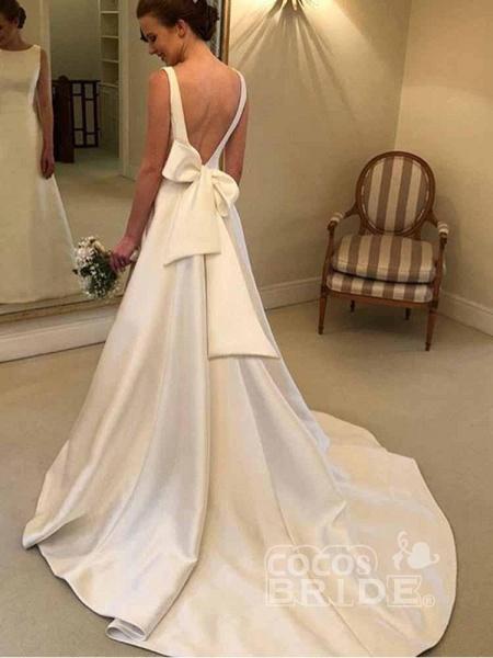 Gorgeous Backless Ruffles Wedding Dresses_2