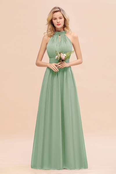 BM0758 Glamorous High-Neck Halter Bridesmaid Affordable Dresses with Ruffle_41