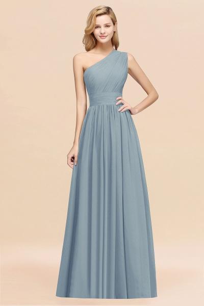 Elegant A-Line Burgundy Chiffon One-Shoulder Sleeveless Ruffles Floor-Length Bridesmaid Dresses_40