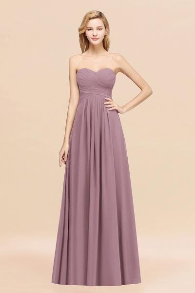 A-line Chiffon Sweetheart Strapless Ruffles Floor-length Bridesmaid Dress_43