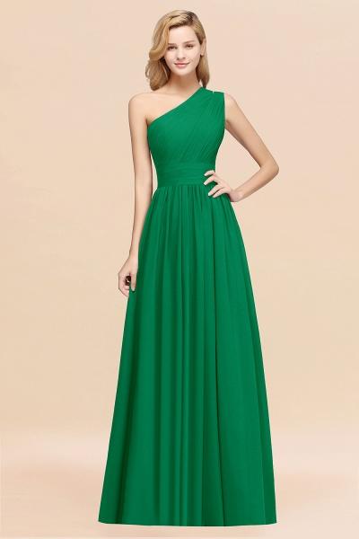 Elegant A-Line Burgundy Chiffon One-Shoulder Sleeveless Ruffles Floor-Length Bridesmaid Dresses_49