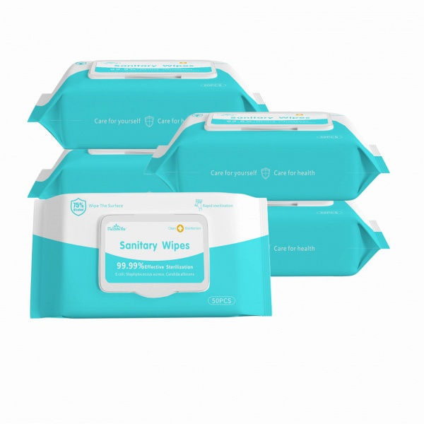 Wet Wipes Disinfection Wipes Cleaning Wipes with 75% Alcohol 50pcs/one pack (Pack of 20)_3