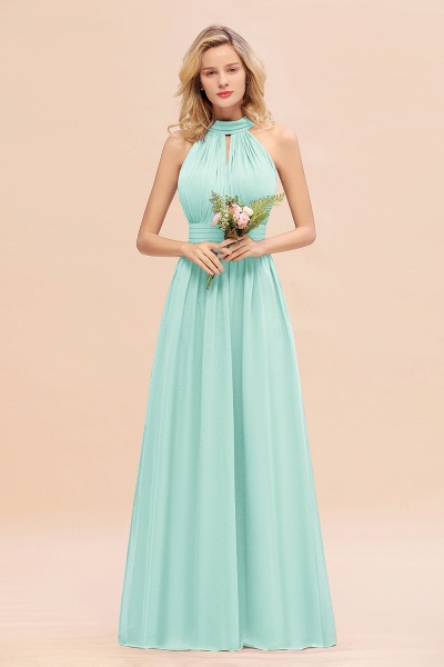 BM0758 Glamorous High-Neck Halter Bridesmaid Affordable Dresses with Ruffle_36