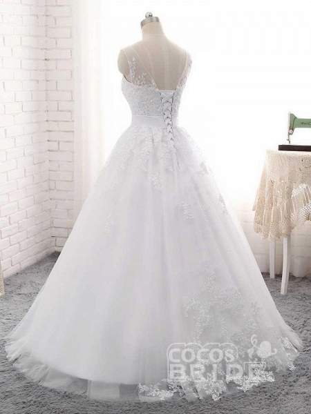 Elegant Lace-Up Ball Gown Wedding Dresses_4