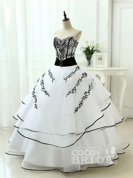 Glamorous Sweetheart Ball Gown Wedding Dresses_2