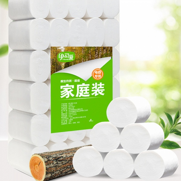 In-Stock White Toilet Paper Roll Household 3 Ply Toilet Tissue 10 Rolls