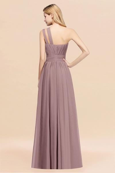 Elegant A-Line Burgundy Chiffon One-Shoulder Sleeveless Ruffles Floor-Length Bridesmaid Dresses_52