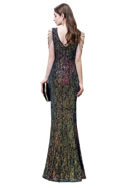 V-Neck Sequins Long Evening Dress With Split_5
