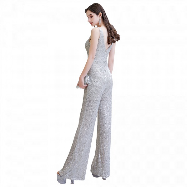 Sexy Shining V-neck Sleeveless Prom Jumpsuit with Silver Sequins_27