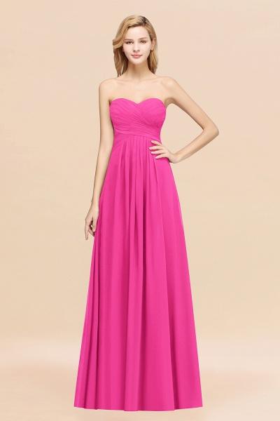 A-line Chiffon Sweetheart Strapless Ruffles Floor-length Bridesmaid Dress_9