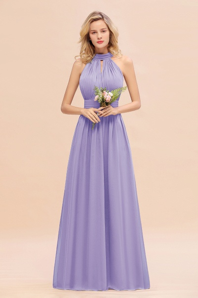 BM0758 Glamorous High-Neck Halter Bridesmaid Affordable Dresses with Ruffle_21