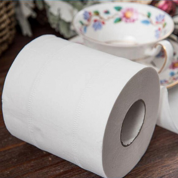 10 Roll 4ply White Toilet Paper Native Wood Pulp Tissue Hollow Replacement Roll Paper_10