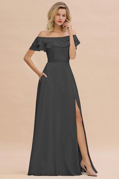 BM0775 Off-the-Shoulder Front Slit Mint Green Long Bridesmaid Dress_46