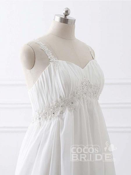 Gorgeous Spaghetti Straps A-Line Ruffles Wedding Dresses_5