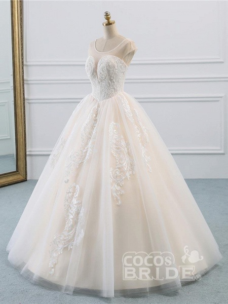 Lace-Up Ball Gown Wedding Dresses_2