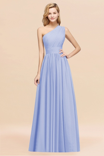 Elegant A-Line Burgundy Chiffon One-Shoulder Sleeveless Ruffles Floor-Length Bridesmaid Dresses_22