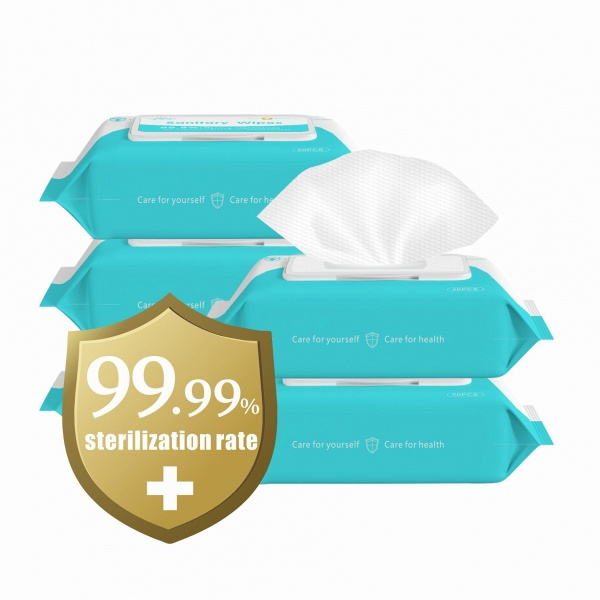 Wet Wipes Disinfection Wipes Cleaning Wipes with 75% Alcohol 50pcs/one pack (Pack of 20)