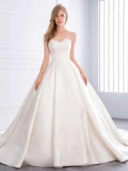 Sweetheart Ball Gown Ruffles Wedding Dresses_1