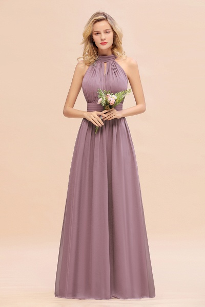 BM0758 Glamorous High-Neck Halter Bridesmaid Affordable Dresses with Ruffle_43