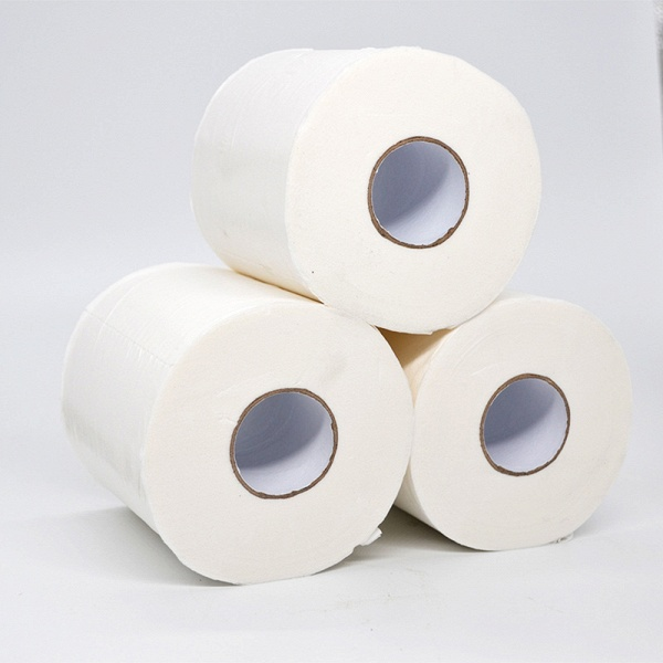 10 Roll 4ply White Toilet Paper Native Wood Pulp Tissue Hollow Replacement Roll Paper_6