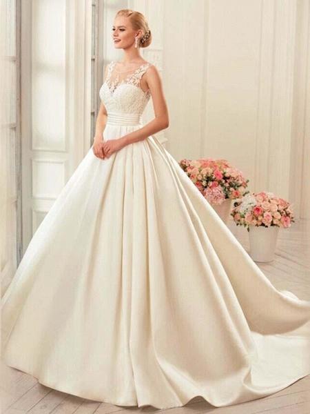 Glamorous Backless Ruffles Wedding Dresses_1