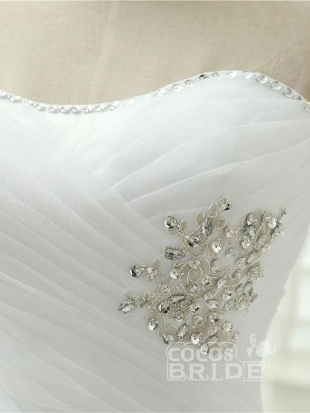Elegant Off-the-Shoulder Crystal Tulle Wedding Dresses_5