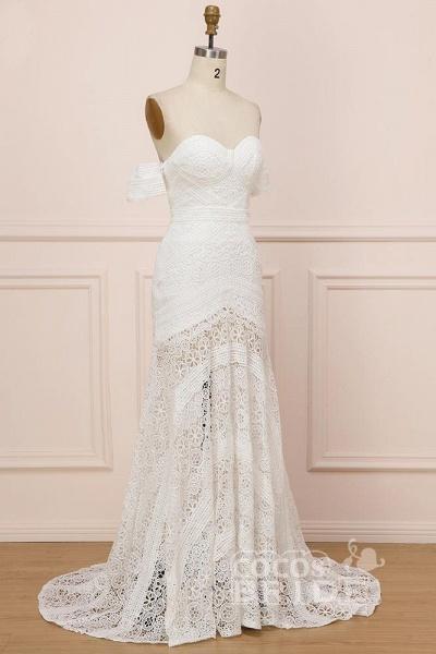 Modest Sweetheart Neck Lace Beach Sexy Boho Wedding Dress_4