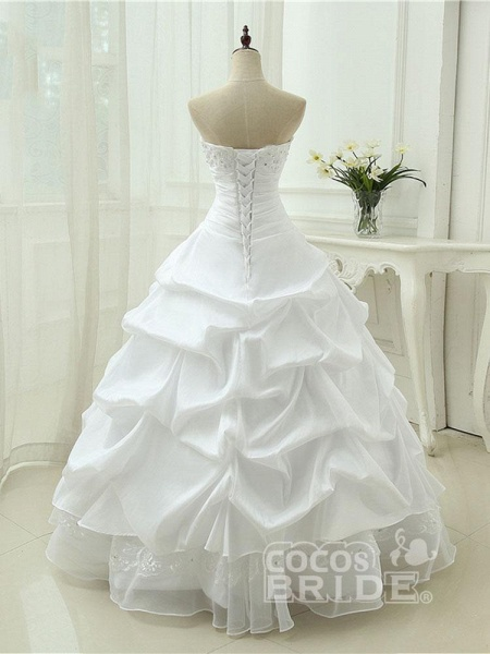 Gorgeous Sweetheart Beaded Ball Gowns Lace-Up Wedding Dresses_2