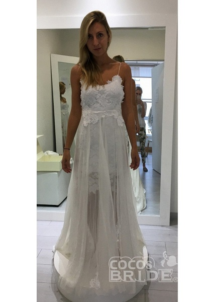 Hollie Inspiration French Lace Dresses Bohemian Wedding Dresses_2