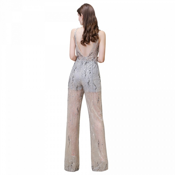 Jewel Sleeveless Tulle Evening Jumpsuit with Sequins_12