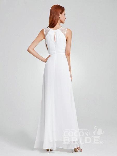 Elegant Ruffles Chiffon Floor Length Wedding Dresses_2