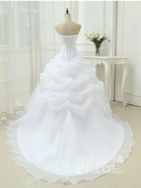 Gorgeous Sweetheart Ruffles Wedding Dresses_4