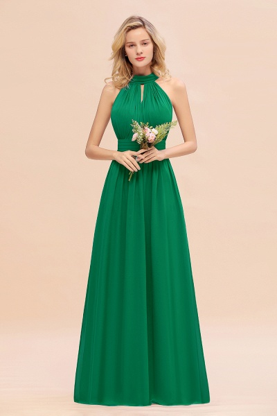 BM0758 Glamorous High-Neck Halter Bridesmaid Affordable Dresses with Ruffle_49