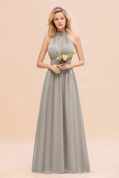 BM0758 Glamorous High-Neck Halter Bridesmaid Affordable Dresses with Ruffle_30