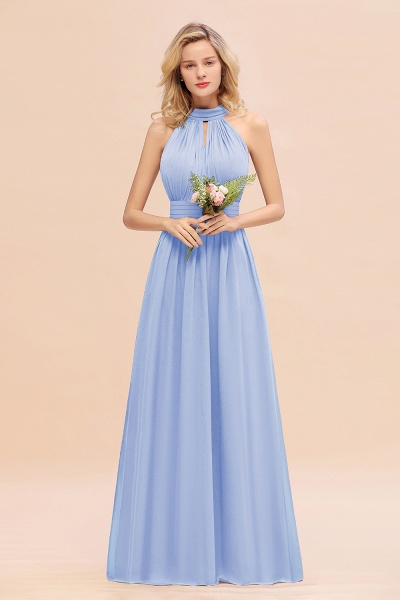 BM0758 Glamorous High-Neck Halter Bridesmaid Affordable Dresses with Ruffle_22