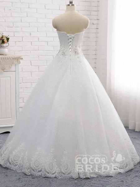 Gorgeous Sweetheart Appliques Ball Gown Wedding Dresses_3