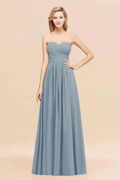 A-line Chiffon Sweetheart Strapless Ruffles Floor-length Bridesmaid Dress_40