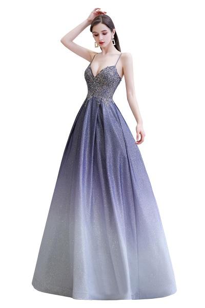 Elegant Spaghetti Straps Appliques Beads Ombre Prom Dress_12