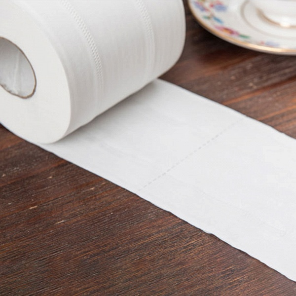 10 Roll 4ply White Toilet Paper Native Wood Pulp Tissue Hollow Replacement Roll Paper_3