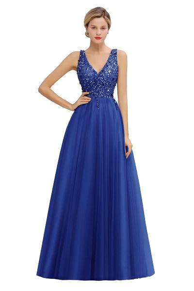 Fabulous V-neck Tulle A-line Prom Dress_3